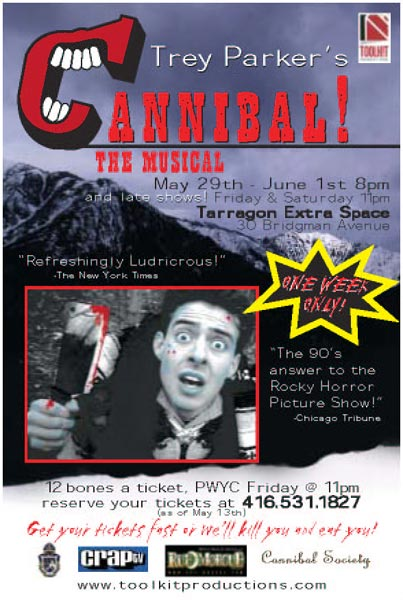 Cannibal The Musical Stage Play